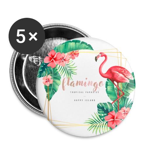 flamingo3 - Przypinka duża 56 mm (pakiet 5 szt.)