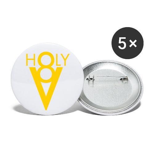 Holy V8 Gold Edition - Buttons groß 56 mm (5er Pack)