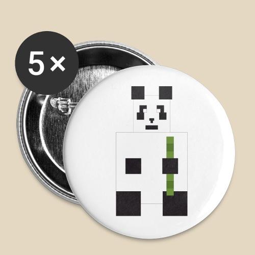 Panda - Lot de 5 grands badges (56 mm)