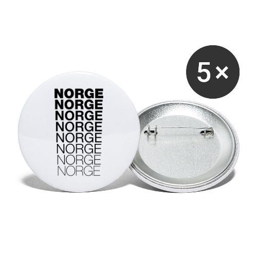 Norge Norge Norge Norge Norge Norge - Stor pin 56 mm (5-er pakke)