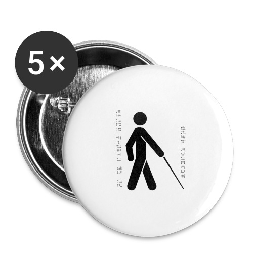 Blind T-Shirt - Buttons large 2.2''/56 mm(5-pack)