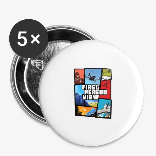 Ultimate Video Game - Buttons large 2.2''/56 mm(5-pack)