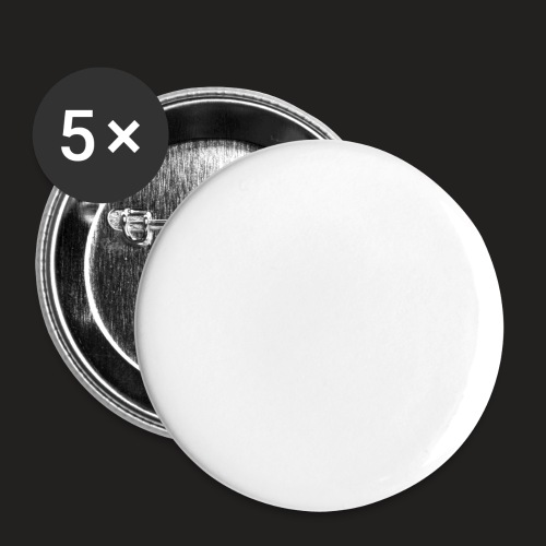 TORTURED IRON LOGO IN WHITE - Buttons large 2.2''/56 mm(5-pack)