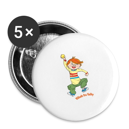 Villads fra Valby - Buttons/Badges stor, 56 mm (5-pack)