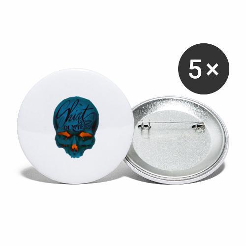 Dum Skull Orange glow - Buttons groot 56 mm (5-pack)