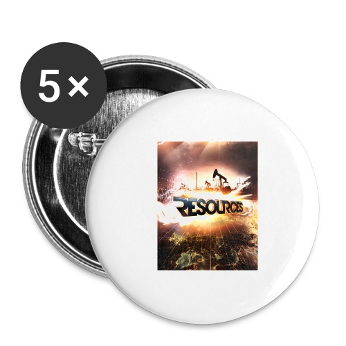 RESOURCES Splash Screen - Buttons groß 56 mm (5er Pack)