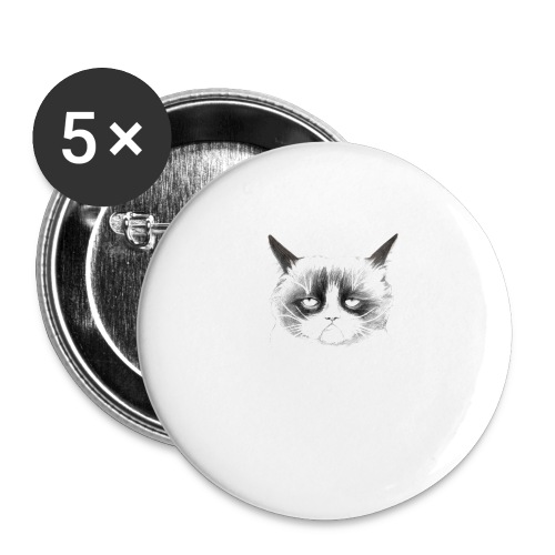 Grumpy Cat - Buttons large 2.2''/56 mm (5-pack)