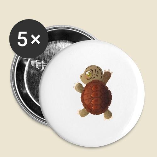 Bébé tortue - Lot de 5 grands badges (56 mm)