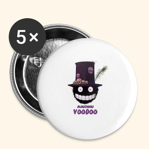 voodoo - Lot de 5 grands badges (56 mm)