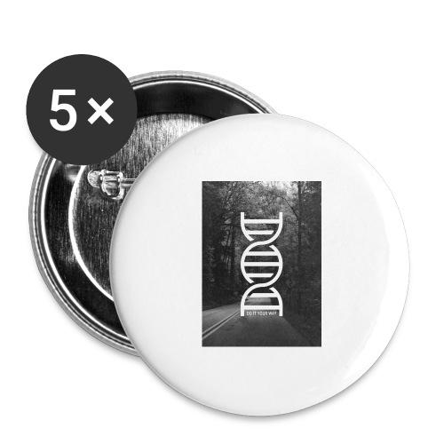 Fotoprint DNA Straße - Buttons groß 56 mm (5er Pack)