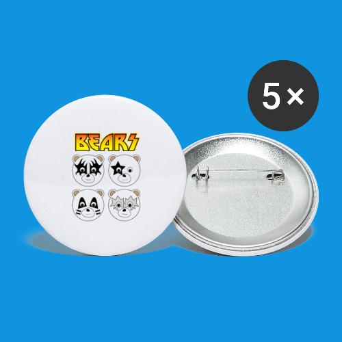 Kiss Bears square.png - Buttons large 2.2''/56 mm(5-pack)