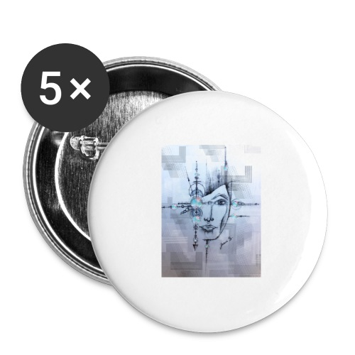 Space - Buttons groß 56 mm (5er Pack)