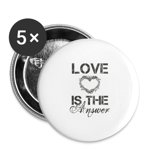 Love is the answer - Buttons groß 56 mm (5er Pack)