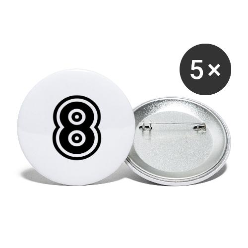 cool number 8 - Buttons groot 56 mm (5-pack)