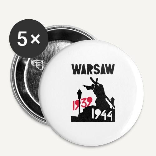 Warsaw 1939-1944 - Przypinka duża 56 mm (pakiet 5 szt.)
