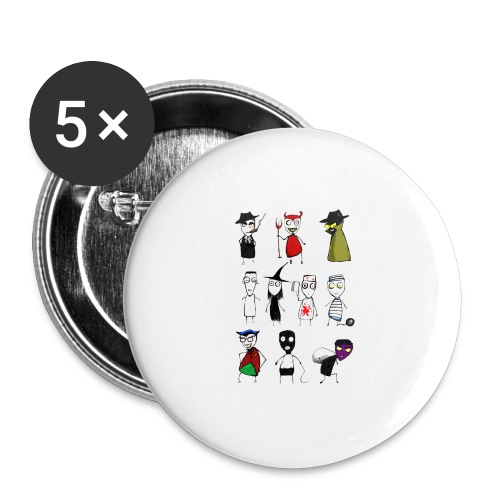 Bad to the bone - Buttons large 2.2''/56 mm (5-pack)