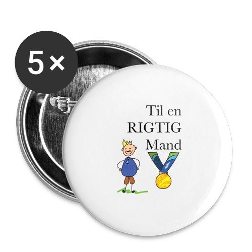 En rigtig mand - Buttons/Badges stor, 56 mm (5-pack)