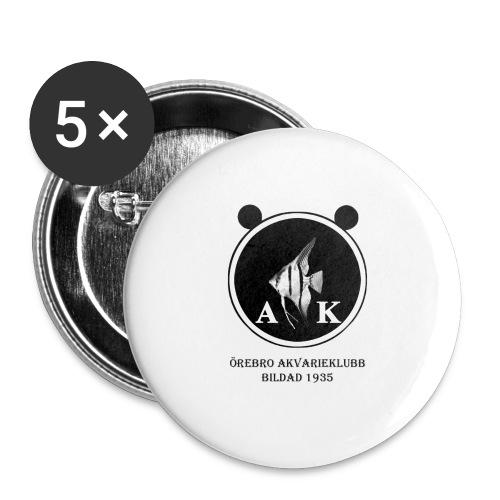 oeakloggamedsvarttext - Stora knappar 56 mm (5-pack)