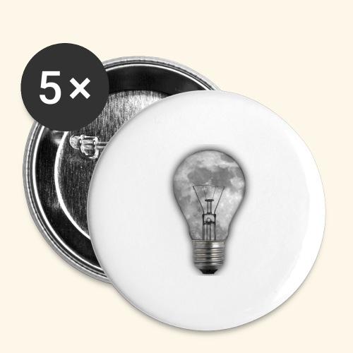 moon bulb - Paquete de 5 chapas grandes (56 mm)