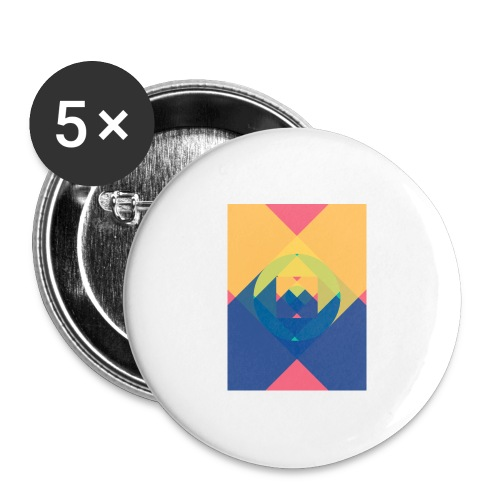 square and shadow - Buttons groß 56 mm (5er Pack)