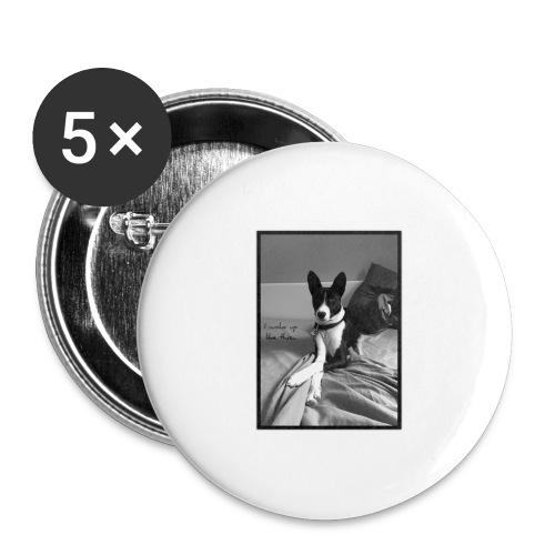 Piratethebasenji - Lot de 5 grands badges (56 mm)