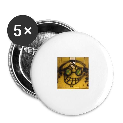 fox 3 - Lot de 5 grands badges (56 mm)