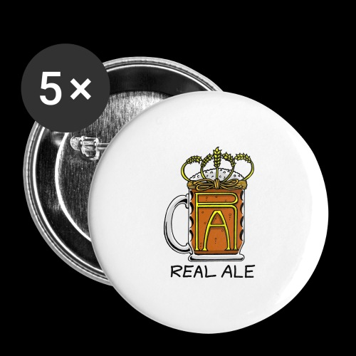 Real Ale - Buttons large 2.2''/56 mm (5-pack)