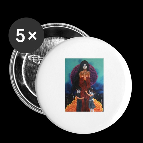 los fieles difuntos - Buttons large 2.2''/56 mm (5-pack)