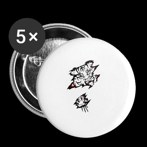 Böser Tiger - Buttons groß 56 mm (5er Pack)