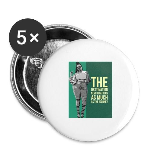 girlquote - Lot de 5 grands badges (56 mm)