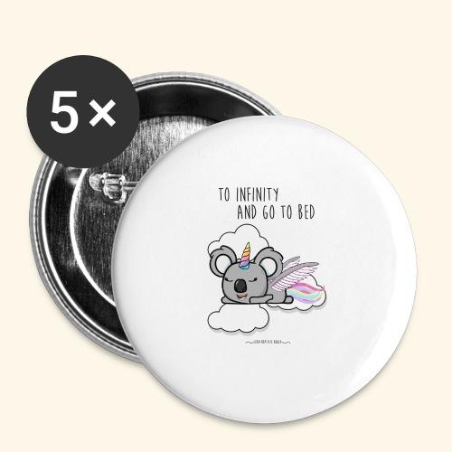 Buzz koala - Lot de 5 grands badges (56 mm)