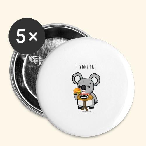 i want fate - Lot de 5 grands badges (56 mm)