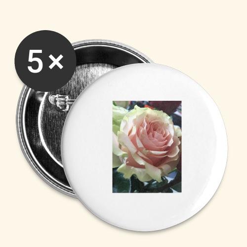 Roses - Buttons groß 56 mm (5er Pack)