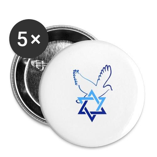 Shalom I - Buttons groß 56 mm (5er Pack)