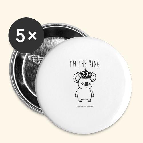 Koala king - Lot de 5 grands badges (56 mm)