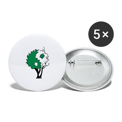 Yin Yang Arbre - Lot de 5 grands badges (56 mm)