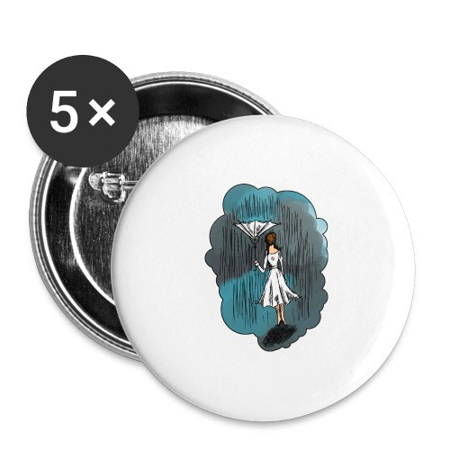 Upside Down Umbrella - Buttons large 2.2''/56 mm(5-pack)