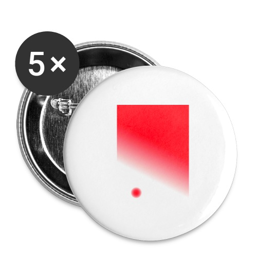 Red - Buttons groß 56 mm (5er Pack)