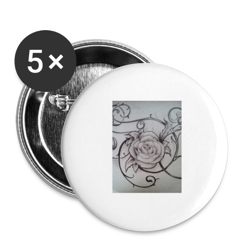 Tattoo Rose - Rintamerkit isot 56 mm (5kpl pakkauksessa)