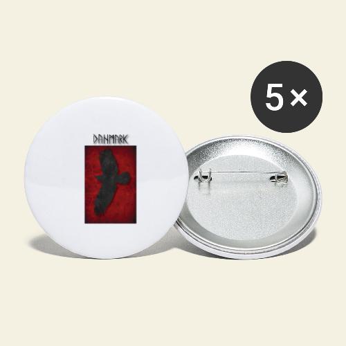 ravnefanen - Buttons/Badges stor, 56 mm (5-pack)