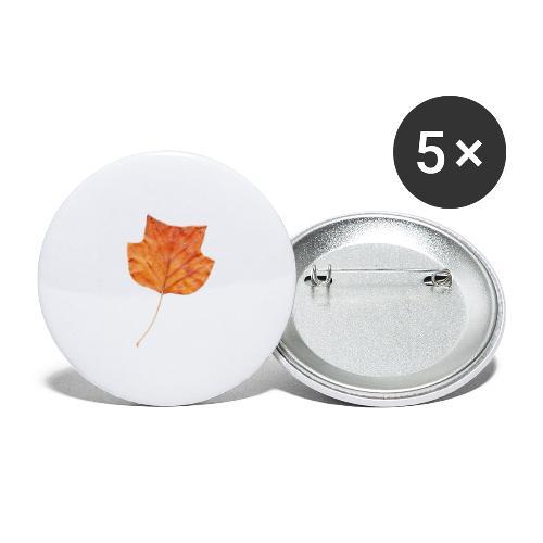 Herbst-Blatt - Buttons groß 56 mm (5er Pack)