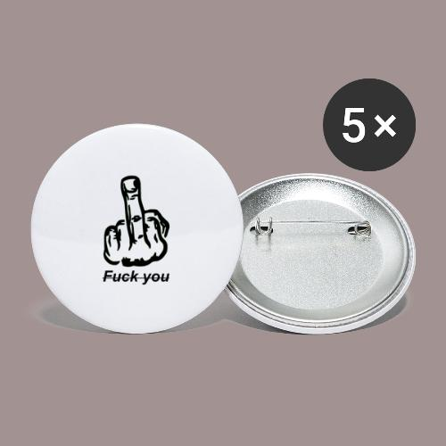 fuck you - Buttons groß 56 mm (5er Pack)