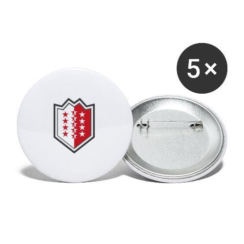 Bouclier moderne du Valais - Buttons groß 56 mm (5er Pack)