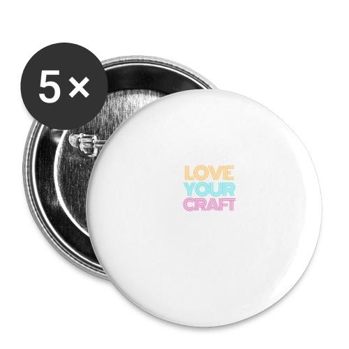 Love your craft - Confezione da 5 spille grandi (56 mm)
