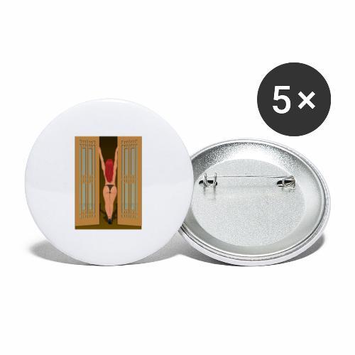 Frau - Buttons groß 56 mm (5er Pack)