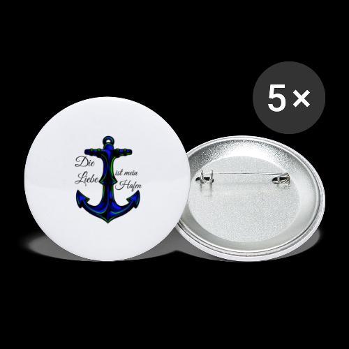 Liebe muss sein - Buttons groß 56 mm (5er Pack)