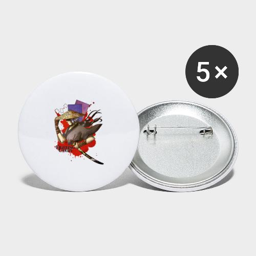Fighting cards - Guerrier - Lot de 5 grands badges (56 mm)