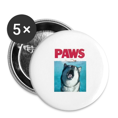paws Alaskan Malamute - Buttons large 2.2''/56 mm(5-pack)