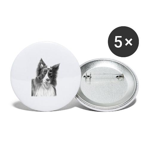 border collie 3 - Buttons/Badges stor, 56 mm (5-pack)