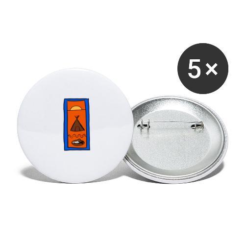 Samisk motiv - Stor pin 56 mm (5-er pakke)